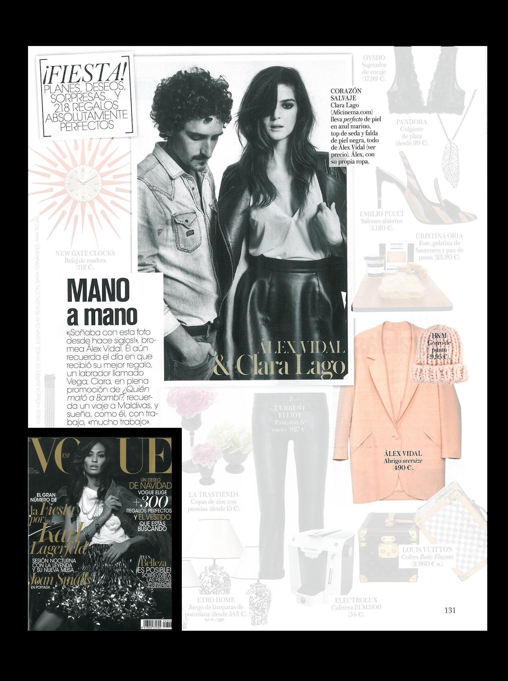 """Alex-Vidal y Clara Lago en la Revista """"Vogue"""""""