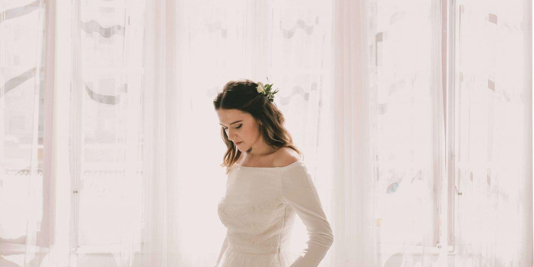 el vestido de novia de Nadia