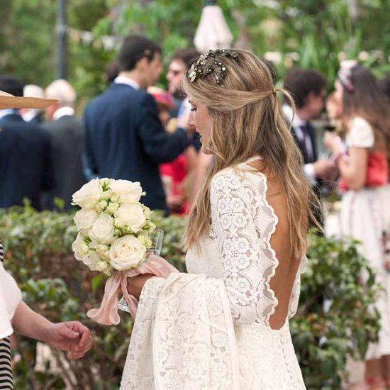 vestido de novia diferente y sencillo